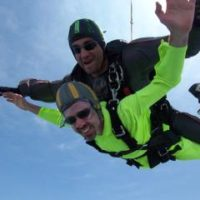 Alan Berg skydiving