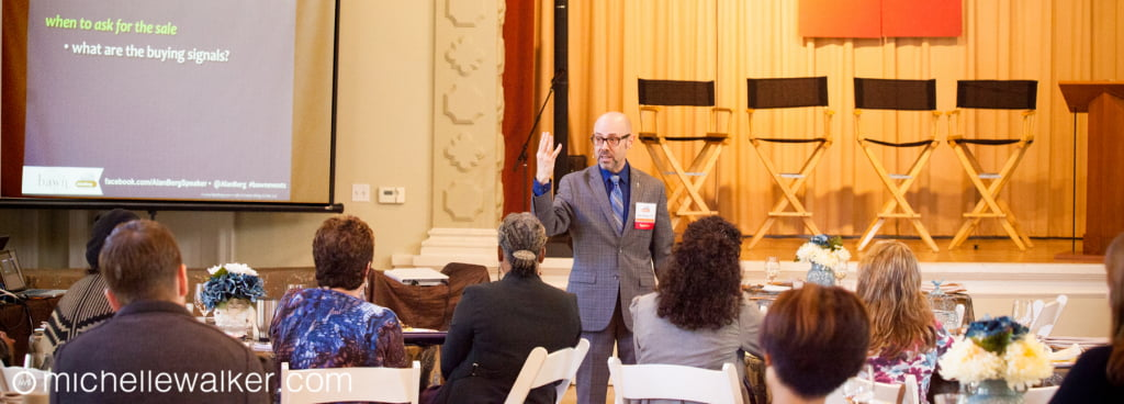 Alan Berg doing a workshop for the Bay Area Wedding Network - Michelle Walker Photographer