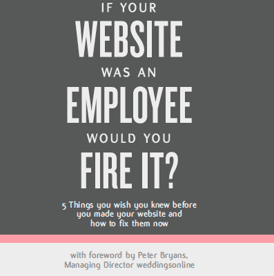 If your website was an employee, weddingsonline edition - Alan Berg CSP