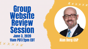Group Website Review Session with Alan Berg CSP