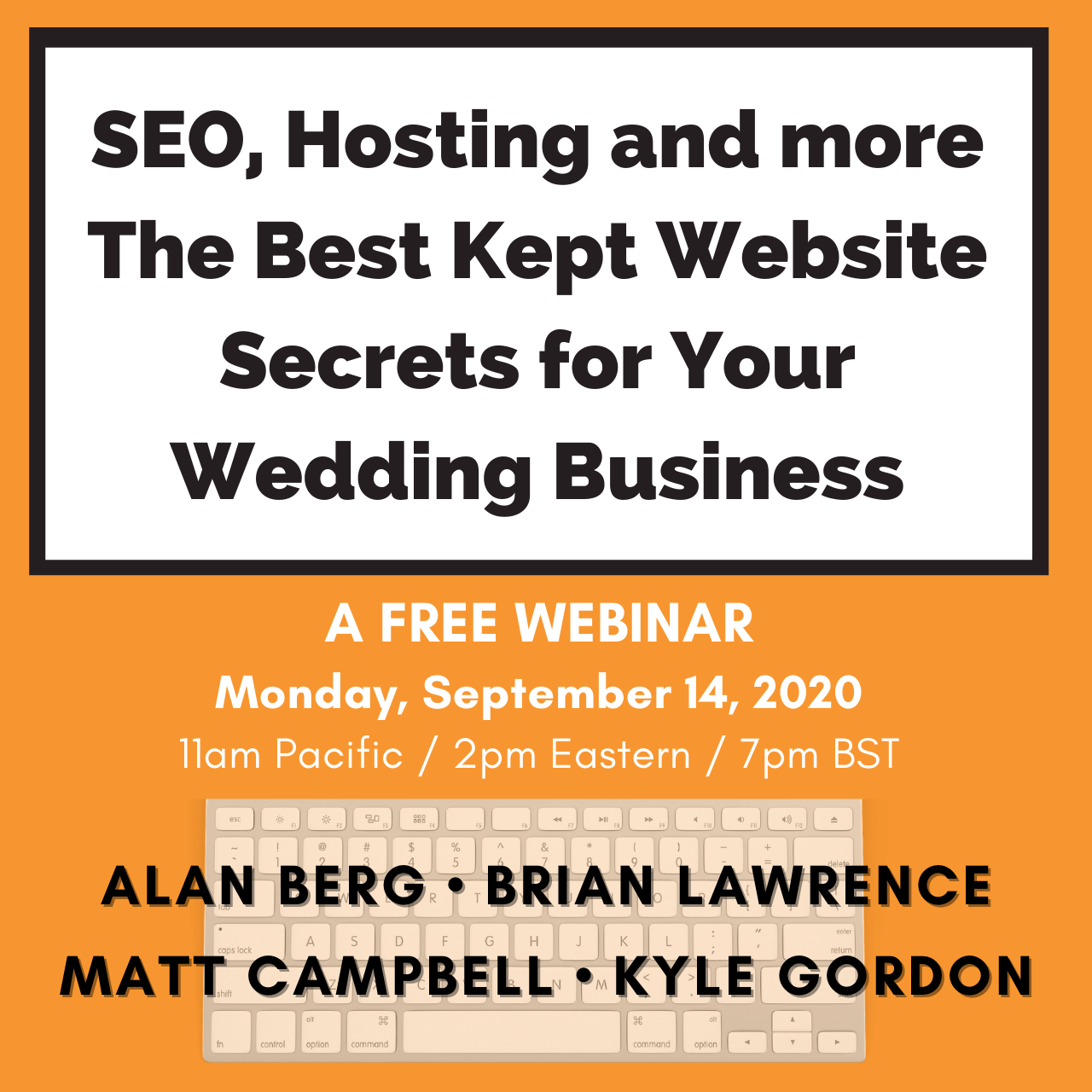 SEO, Hosting and more - The Best Kept Website Secrets for Your Wedding Business